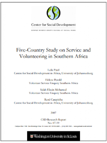Five-Country Study on Service and Volunteering in Southern Africa