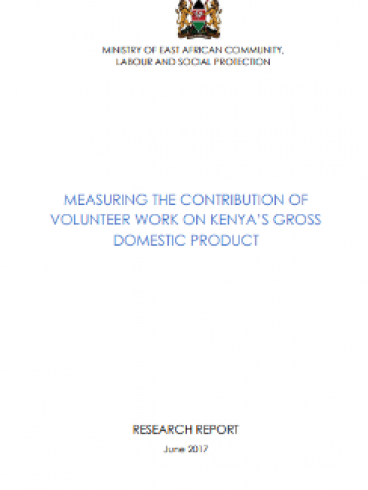 MEASURING THE CONTRIBUTION OF VOLUNTEER WORK ON KENYA'S GROSS DOMESTIC PRODUCT