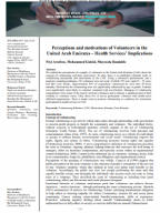 Perceptions and motivations of Volunteers in the United Arab Emirates – Health Services' Implications