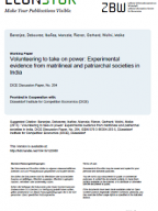 Volunteering to take on power: Experimental evidence from matrilineal and patriarchal societies in India