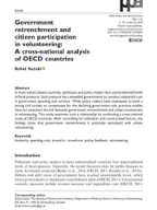 Government retrenchment and citizen participation in volunteering: A cross-national analysis of OECD countries